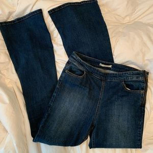 """Free People long flare jeans sz 28 and 32"""" inseam"""